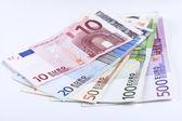 Euro na białym tle — Zdjęcie stockowe