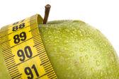 влажное яблоко — Стоковое фото
