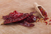 Chili on Wood — Stock Photo
