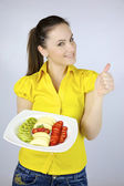 Fresh fruit makes life happy — Stock Photo