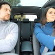 Husband and wife in car — Stok video #45637331
