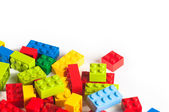 Lego blocks with copy space — Stock Photo