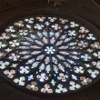Stock Photo: Big church stained glass shining light
