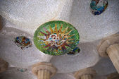 Some Mosaic architecture on park guell — Stock Photo