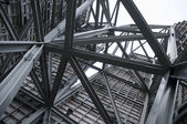 Steel Construction in the sky — Stock Photo