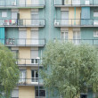 Stock Photo: Apartment Building view in milano italy