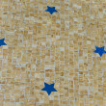 Blue stars on the yellow ground mosaic — Stock Photo #17874725