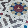 Different shape of arc on the ground mosaic — Stock Photo