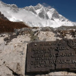 Stock Photo: Summit of K2 Everest nepal memorial