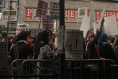 Protest for Jewish outrage at Zionist attacks in Palestine — Stock Photo