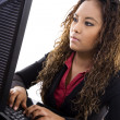 Young Businesswoman Typing — Stock Photo