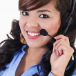 Stock Photo: Female call center representative