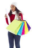 Shopping surprise — Stock Photo