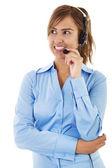 Call Center Operator — Stock Photo