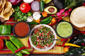 Traditional mexican salsas — Stock Photo