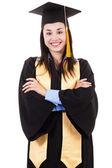ženské středoškolské s maturitou — Stock fotografie