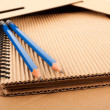 Stock Photo: Notepad, pencils and paper folder