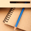 Stock Photo: Notepad, pencil and paper folder