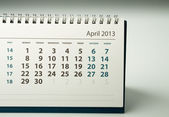 2013 year calendar. April — Stock fotografie