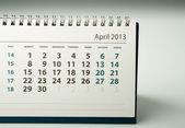 Kalendarz 2013 roku. kwietnia — Zdjęcie stockowe