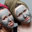 Stock Photo: Clay facial mask