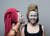 Clay facial mask — Stockfoto