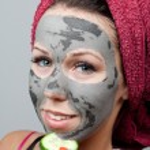 Clay facial mask — Stock Photo