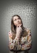 Maze. Labyrinth. — Stock Photo