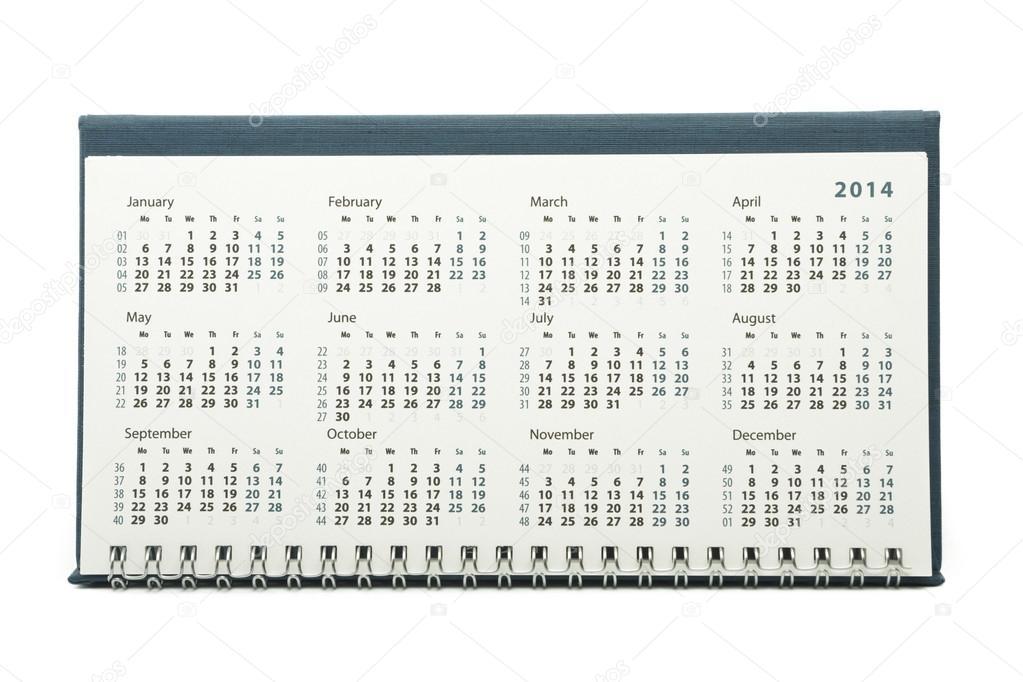 Календарь на 2014 год стоковое