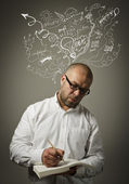 Creator. Man in thoughts. — Stock Photo