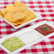 Three mexican dips — Stock Photo