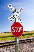 Attraversamento della ferrovia — Foto Stock