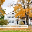 House in fall — Stock Photo