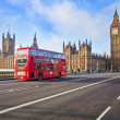 Red Bus on Westminster Bridge — Stock Photo #23793735