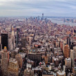 Midtown and lower Manhattan in New York City from high perspective — Stock Photo