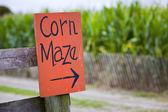 Corn maze sign — Stock Photo