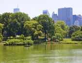 Central Park lake — Stock Photo