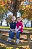 Children in fall — Stock Photo