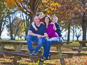 Family in fall — Stock Photo