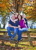 Family in fall — ストック写真