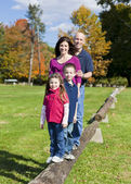 Family in fall — Stock Photo