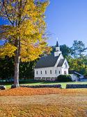 American white church — Stock Photo