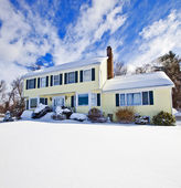 House in snow — Stock Photo