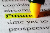 Word future highlighted with a yellow marker — Stock Photo