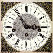 Closeup of old table clock — Stock Photo