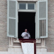 Постер, плакат: Pope Francis I during the first Angelus