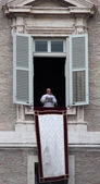 Pope Francis I during the first Angelus — Stock Photo