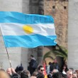 Flag of Argentina in St. Peter Square — Stock Photo