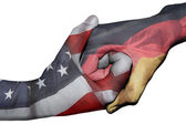 Handshake between United States and Germany — Stock Photo