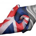 Handshake between United Kingdom and France — Stock Photo #49986331
